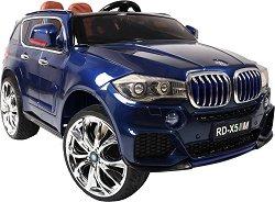 Детска акумулаторна кола - BMW M5X металик - Комплект с дистанционно управление - продукт