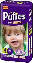 Pufies Baby Art & Dry New 4 - Maxi - Пелени за еднократна употреба за бебета с тегло от 7 до 14 kg -