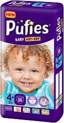 Pufies Baby Art & Dry New 4+ - Maxi+ - Пелени за еднократна употреба за бебета с тегло от 9 до 16 kg -