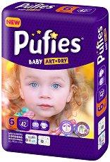 Pufies Baby Art & Dry New 6 - Extra Large - Пелени за еднократна употреба за бебета с тегло над 13 kg -