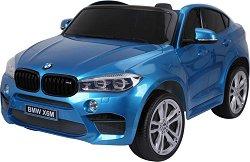 Детски акумулаторен джип - BMW X6M металик - Комплект с дистанционно управление -