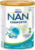 Висококачествено преходно мляко - Nestle NAN Comfortis 2 - Метална кутия от 800 g за бебета над 6 месеца -