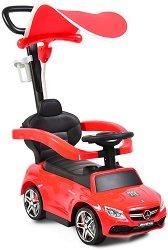Детска кола за бутане - Mercedes C63 Coupe - С родителски контрол -