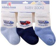 Бебешки термо чорапи - Hopper - Комплект от 3 чифта -