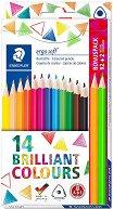 Цветни моливи - Ergosoft Brilliant - Комплект от 14 броя