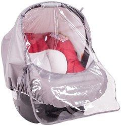 Универсален дъждобран - Аксесоар за бебшко кошче за кола -