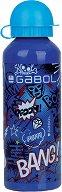 Детска алуминиева бутилка - Gabol: Bang 500 ml - несесер