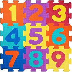 Цифри - Детски образователен пъзел-килим с меки елементи - пъзел