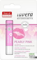 Lavera Pearly Pink Lip Balm - Балсам за устни с био бадемово масло и био слез -