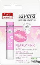 Lavera Pearly Pink Lip Balm - Балсам за устни с био бадемово масло и био слез - олио