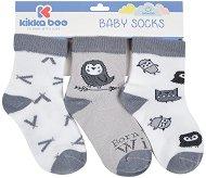 Бебешки памучни чорапи - Комплект от 3 чифта -