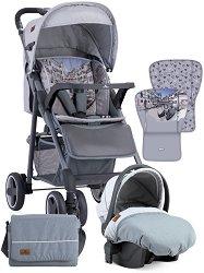 Бебешка количка 2 в 1 - Aero Set 2019 - С 4 колела -