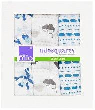 Марлени кърпи - Miosquares: Sail Away - Комплект от 3 броя -