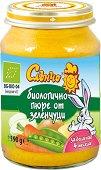 Слънчо - Био пюре от натурални зеленчуци - Бурканче от 190 g за бебета над 4 месеца - чаша