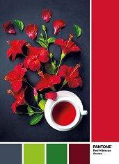 """Червен хибискус - Пъзел от колекцията """"Pantone"""" - пъзел"""