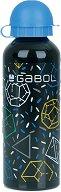Детска алуминиева бутилка - Gabol: Space 500 ml - раница