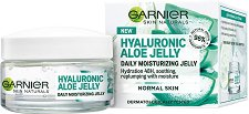 "Garnier Hyaluronic Aloe Jelly Daily Moisturizing Jelly - Хидратиращ гел за лице за нормална кожа от серията ""Skin Naturals"" - спирала"