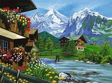 Рисуване по номера - Планина - Комплект за картина с размери 30 x 40 cm