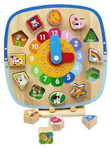 Часовник - Детска дървена играчка -