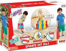 Бейзбол, боулинг и голф - Детски комплект за игра -