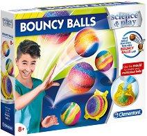 """Направи сам - Подскачащи топчета - Творчески комплект от серията """"Clementoni: Science"""" -"""
