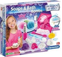 """Направи сама - Сапун и бомби за вана - Образователен комплект от серията """"Clementoni: Science"""" -"""