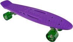 Скейтборд  - Standard Retro - С пластмасова дъска с размери 58 х 15 cm -