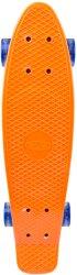 Скейтборд със светещи колела - Sturgy - С пластмасова дъска с размери 58 x 15 cm -