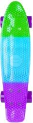 Скейтборд - Sunbow - С пластмасова дъска с размери 58 x 15 cm -