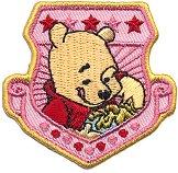 Текстилен самозалепващ се стикер - Мечо Пух с мед