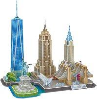 Ню Йорк - 3D пъзел от картон  - пъзел