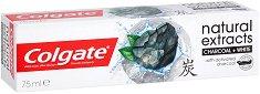 Colgate Natural Extracts Charcoal + White - Избелваща паста за зъби с активен въглен - душ гел