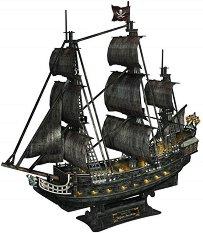 """Кораб - """"Отмъщението на кралица Анна"""" - 3D пъзел от картон -"""