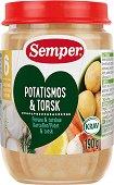 Semper - Пюре от треска с картофено пюре - Бурканче от 190 g за бебета над 6 месеца - продукт