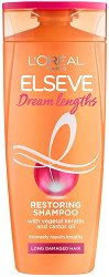 Elseve Dream Long Restoring Shampoo - Възстановяващ шампоан за дълга увредена коса - фон дьо тен