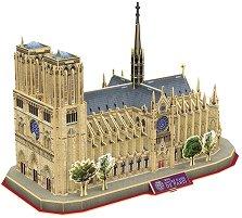 """Катедралата Нотр Дам, Париж - 3D пъзел от серията """"National Geografic Kids"""" -"""