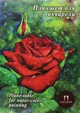 Скицник за рисуване с акварел - Роза
