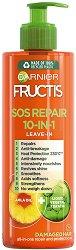 Garnier Fructis SOS Repair 10 in 1 Leave In - Крем без отмиване за суха и увредена коса 10 в 1 - сапун