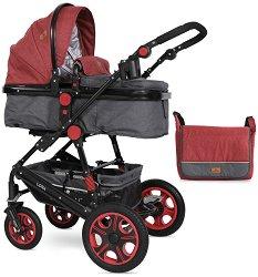 Комбинирана бебешка количка - Lora 2019 - С 4 колела -