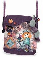 Чанта за рамо - Forever Ninette - В комплект с пухкав ключодържател -