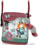 Чанта за през рамо - Forever Ninette - В комплект с пухкав ключодържател със звънче -