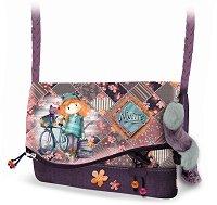 Чанта за рамо - Forever Ninette - В комплект с пухкав ключодържател със звънче -