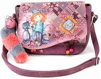 Чанта за рамо - Forever Ninette - В комплект с пухкав ключодържател със звънче - играчка