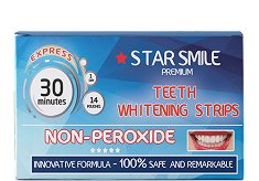 Star Smile Premium Non-Peroxide Teeth Whitening Strips - Ленти за избелване на зъби -