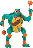 """Микеланджело - Нинджа атака - Екшън фигура от серията """"Възходът на костенурките нинджа"""" - играчка"""