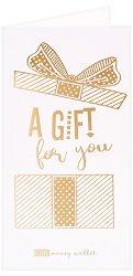 Поздравителна картичка с плик за пари или ваучери: A Gift for You -
