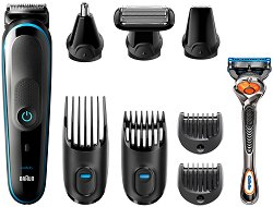 Braun Multi Grooming Kit MGK5080 9 in 1 - Тример за лице, коса и тяло в комплект със самобръсначка -