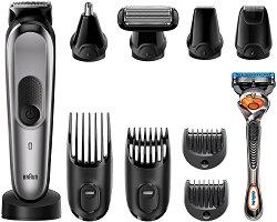 Braun Multi Grooming Kit MGK7021 10 in 1 - Тример за лице, коса и тяло в комплект със самобръсначка -