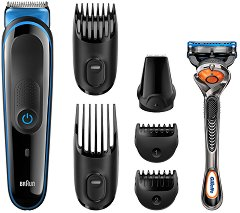 Braun Multi Grooming Kit MGK3045 7 in 1 Face and Body - Тример за лице и коса в комплект със самобръсначка -