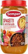 Semper - Пюре от спагети болонезе - Бурканче от 235 g за бебета над 12 месеца -